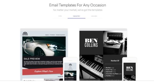 free email templates for marketing benchmark-screenshot