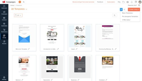 free email templates for marketing Aoho Cmapaigns